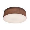 This item: Anton Satin Nickel 19-Inch LED Flush Mount with Mocha Linen Shade
