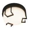 This item: Beaumont Textured Bronze LED Flush Mount