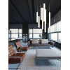 This item: Caden Satin Nickel 24-Inch LED Mini Pendant