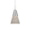 This item: Laveer Satin Nickel 3000K 120-227V LED Mini Pendant with White Shade