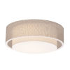 This item: Sanibel White 23-Inch LED Flush Mount with Jute Shade