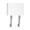 This item: Sheridan Satin Nickel 18-Inch Two-Light LED Wall Sconce