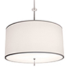 This item: Athens Brushed Nickel Three-Light 24-Inch Medium Base Round Pendant with Ivory Silk Dupioni