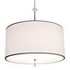 This item: Athens Brushed Nickel 120V LED Round Pendant with White Silk Dupioni