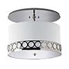 This item: Astoria Hand Rubbed Bronze 277V LED Semi Flush Mount with Ivory Silk Dupioni