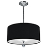 This item: Audrey Hand Rubbed Bronze 277V LED Pendant with Ivory Silk Dupioni