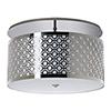 This item: Brentwood Polished Chrome Two-Light 20-Inch Medium Base Semi Flush Mount with Ivory Silk Dupioni