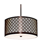 This item: Brentwood Hand Rubbed Bronze 277V LED 20-Inch Round Pendant with White Silk Dupioni