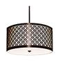 This item: Brentwood Polished Chrome 120V LED 30-Inch Round Pendant with Black Silk Dupioni