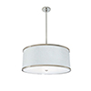 This item: Helix Hand Rubbed Bronze Three-Light 24-Inch Medium Base Pendant with Ivory Silk Dupioni