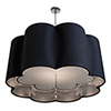This item: Paris Petal Polished Nickel 277V LED 32-Inch Pendant with White Silk Dupioni and Silver Inner