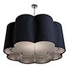 This item: Paris Petal Polished Nickel Three-Light 32-Inch  Medium Base Pendant with Crystal Ornament