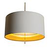 This item: Paris Polished Nickel Three Light 24-Inch  Medium Base Pendant with White Silk Dupioni and Silver Inner