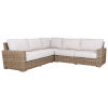 This item: Havana Tobacco Leaf Wicker Sectional Sofa with Cushion in Canvas Flax