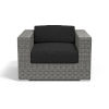 This item: Emerald II Steel Grey Wicker Club Chair with Cushion in Spectrum Carbon