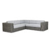 This item: Emerald II Steel Grey Wicker Sectional Sofa with Cushion in Spectrum Carbon