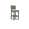 This item: Coronado Light Brown Barstool with Canvas Flax Cushion