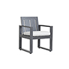 This item: Redondo Burnished Gray Dining Chair with Cast Silver Cushion