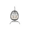 This item: Milano Slate Outdoor Hanging Chair with Cushion