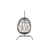 This item: Milano Charcoal Rope Hanging Chair with Echo Ash Cushion