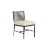 This item: Pietra  Graphite Outdoor Armless Dining Chair