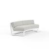 This item: Newport Frost Powdercoat Curved Sofa