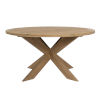 This item: Bazaar Brown 56-Inch Dining Table