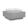 This item: Bazaar Gray 40-Inch Square Fire Table with Glass Surround