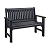 This item: Generations Garden Bench-Black