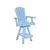 This item: Generation Sky Blue Swivel Pub Arm Chair