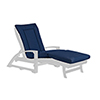 This item: Canvas Navy Chaise Lounge Cushion Pad