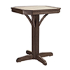 This item: St Tropez 28-inch Square Counter Pedestal Table