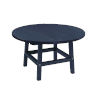 This item: Capterra Casual Atlantic Navy Outdoor 32-Inch Round Table Top