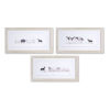 This item: White and Gray Nine-Inch Framed Farm Animal Print Wall Decor, Set of 3
