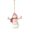 This item: White and Red Baseball Snowman Ornament, Set of 6