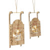 This item: LED Lighted Sled Cut-Out Ornament, Set of 6