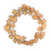 This item: Orange and Brown Fall Leaf Wreath