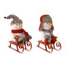 This item: White and Red Snowman on Sled, Set of 2