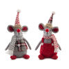 This item: Red and Gray Holiday Mice, Set of 6