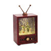 This item: Red and Green 9-Inch Snowman and Tree Television Snow Globe Timer and Music