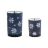 This item: Blue and Silver Candle Holder, Set of 2