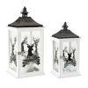 This item: White and Black Merry Christmas Lantern, Set of 2