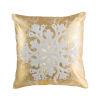 This item: Gold and White Snowflake Throw Pillow