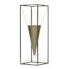 This item: Gold and Black Cone Vase