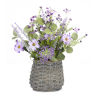 This item: Grey and Purple Mini Floral Basket, Set of 2