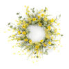 This item: Yellow and Green 20-Inch Mini Floral Wreath