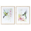 This item: Green and Pink Hummingbird Watercolor, Set of 2
