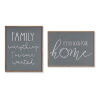 This item: Green and White Family and Home Frame, Set of 4