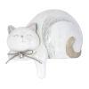 This item: Cream and Grey 7-Inch Cat Figurine, Set of 4