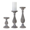 This item: Brown and White Candle Holder, Set of 3